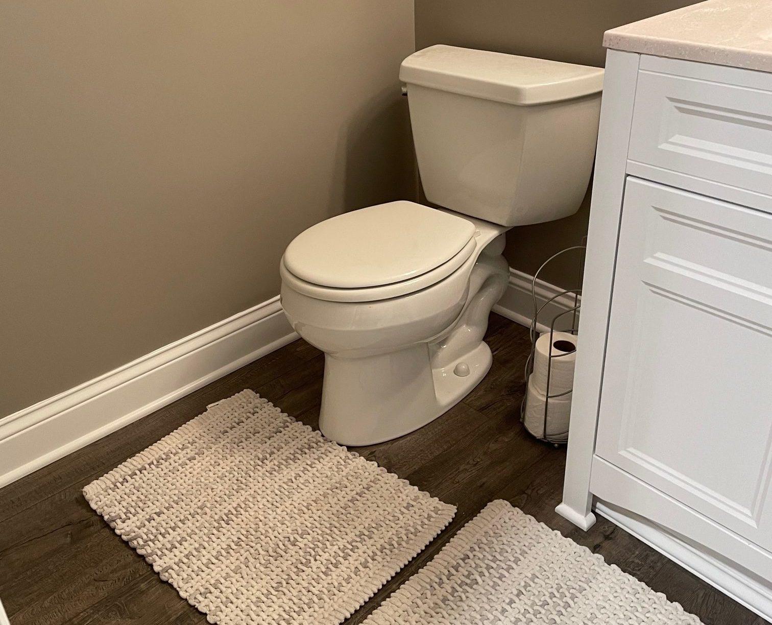 Laminate Installation in Bathroom