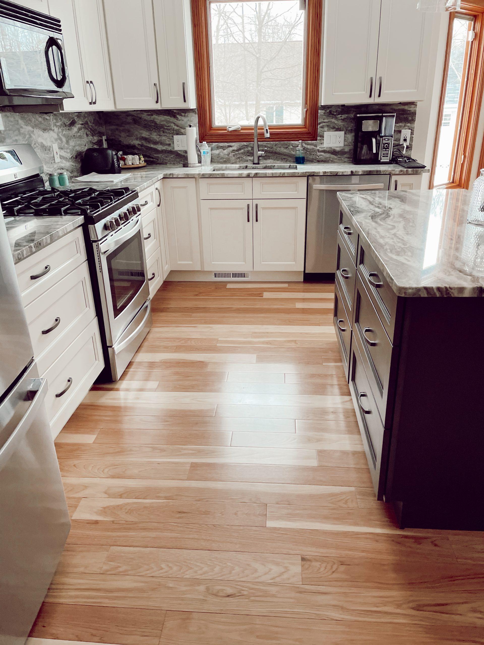Solid Hickory Flooring Installation