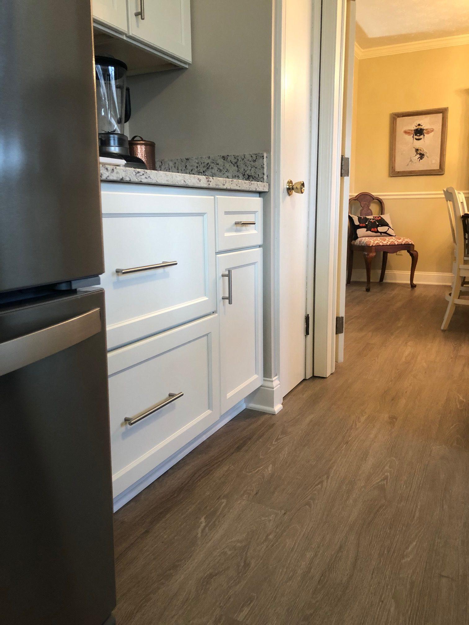 LVP flooring installation