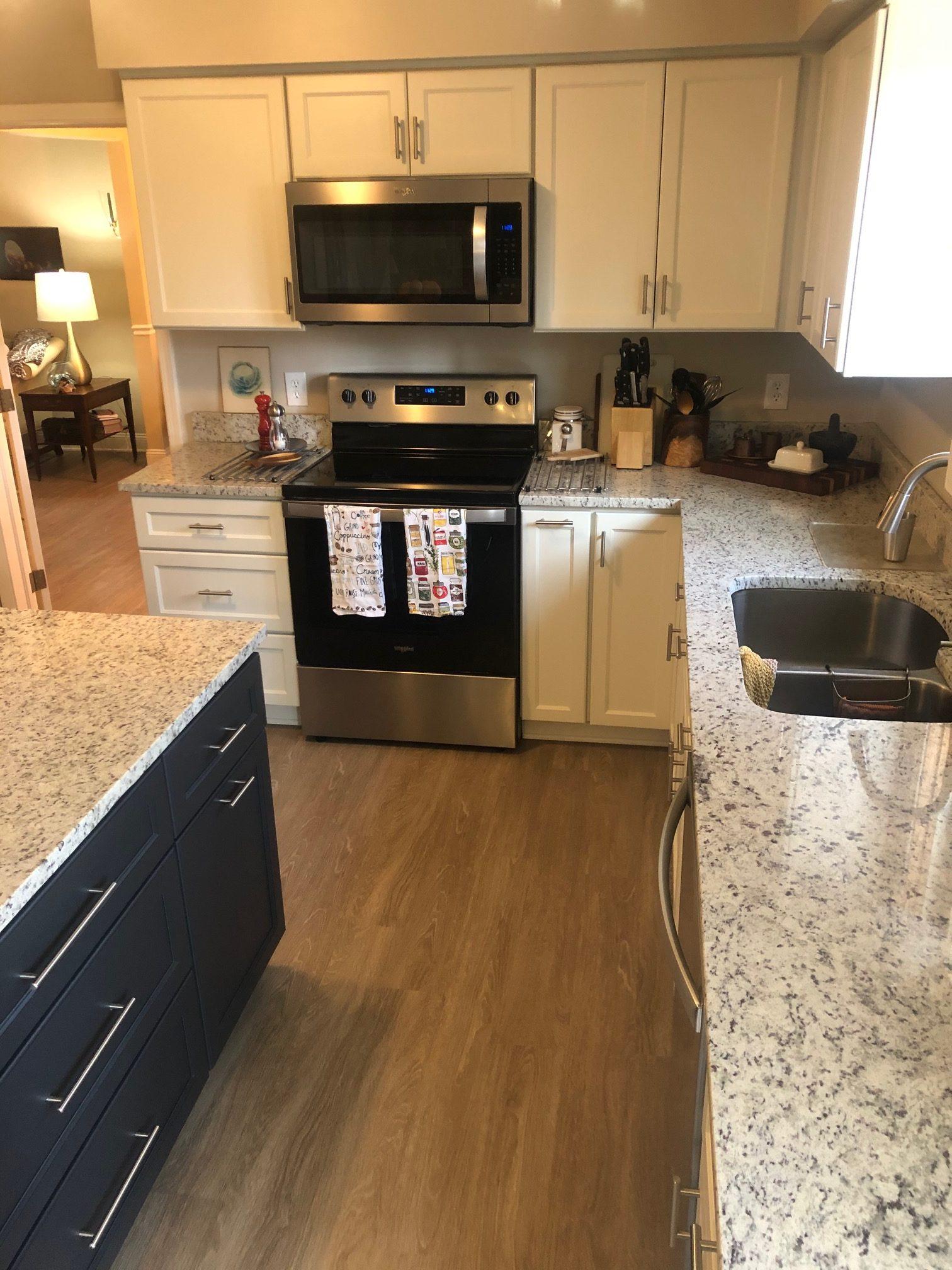 LVP Installation in Kitchen